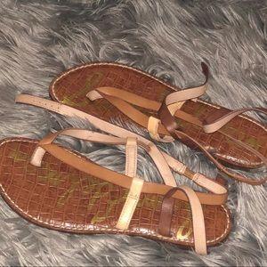 Sam Edelman multi tan strappy sandals